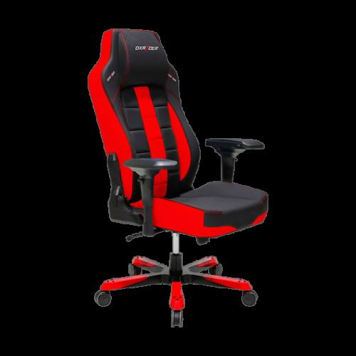 Кресло для геймеров DXRACER BOSS OH/BF120/NR (чёрное/красные вставки) Vinil кожа, Al основа