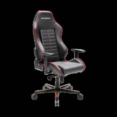Кресло для геймеров DXRACER DRIFTING OH/DJ188/NR (чёрное/красные вставки) Натуральная кожа, Al основ