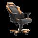 Кресло для геймеров DXRACER IRON OH/IS11/NO (чёрное/оранжевые вставки) PU кожа, Al основание