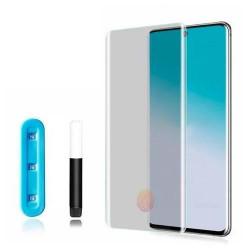 Защитное стекло 5D Samsung Galaxy S20 Plus (Clear) UF клей+лампа
