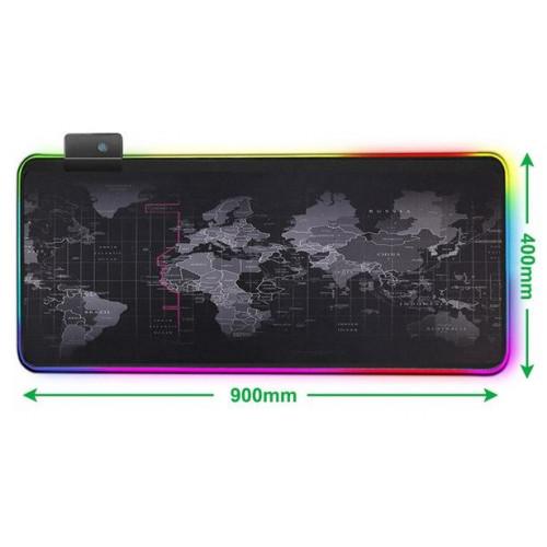 Коврик для мыши RGB GMS-WT-5  World Map + USB (400x900)