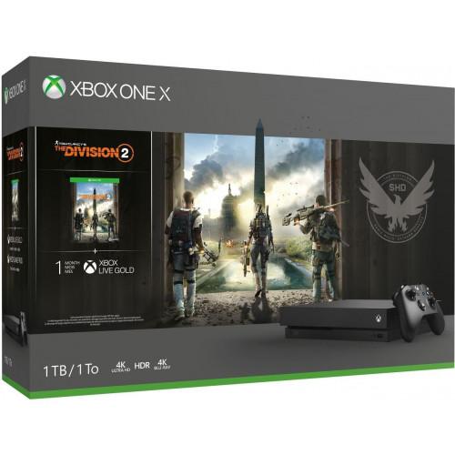 Microsoft Xbox One X 1TB Black + Tom Clancy′s The Division 2