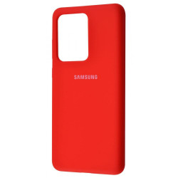 Силикон Soft Touch Samsung S20 Ultra G988 (Red)