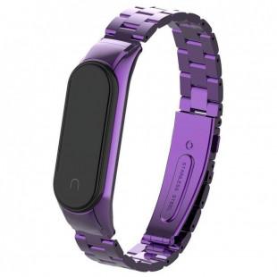 Ремешок Stainless Stell Xiaomi Mi Band 4 Purple