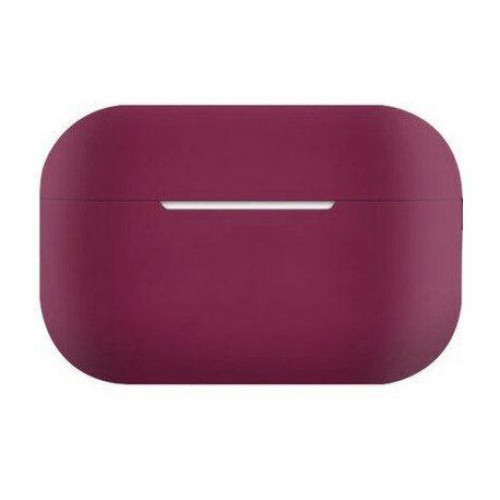 Чехол Silicone case Ultra Thin AirPods Pro Marsala
