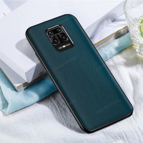 Чехол накладка Xiaomi Redmi Note 9s CENMASO Luxury Leather (Green)