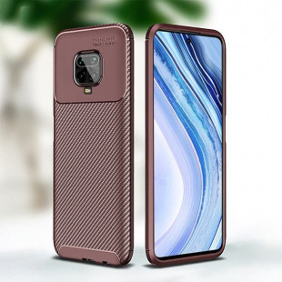 Чехол накладка Xiaomi Redmi Note 9s CENMASO TPU (Brown)
