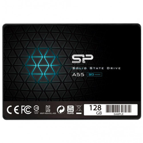 Накопитель SSD 128G 2.5″ SATA3 SILICON POWER A55 (SP128GBSS3A55S25)