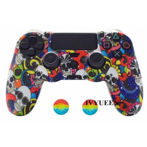 Чехол для Sony PS4 Dualshock 4 (Colorful Skull A)