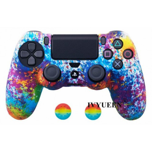 Чехол для Sony PS4 Dualshock 4 (Art Splash)