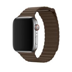 Ремешок Apple Watch 38/40mm Leather Loop Dark Brown