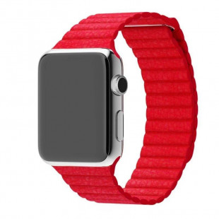 Ремешок Apple Watch 38/40mm Leather Loop Product Red