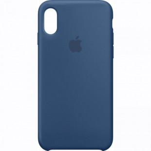 Силиконовый чехол Apple Silicone Case Blue Cobalt (1:1) для iPhone XS