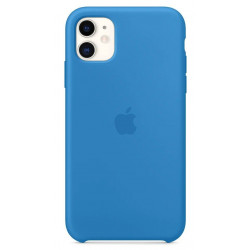 Чехол Apple Silicone Case Surf Blue (1:1) для iPhone 11