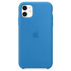 Чехол Apple Silicone Case Surf Blue (1:1) для iPhone 11