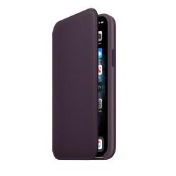 Чехол Apple iPhone 11 Pro Leather Folio - Aubergine (MX072)