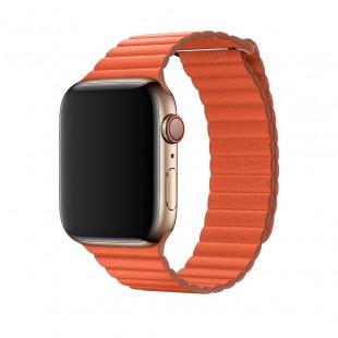 Ремешок Apple Watch 38/40mm Leather Loop Orange