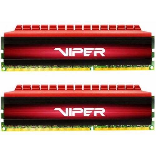 Оперативная память DDR4 16GB (8GB x 2) 3200MHz Patriot PE-V4 Black/Red (PV416G320C6K)