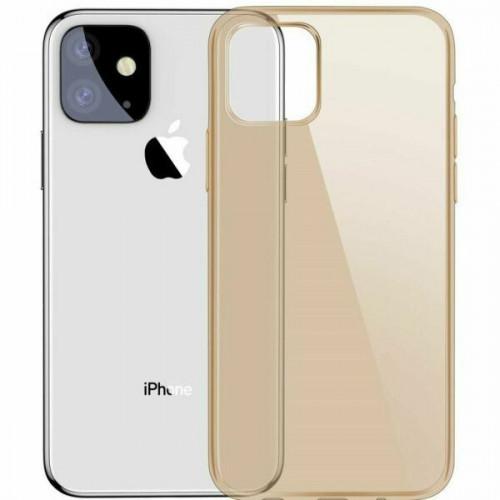 Силиконовый чехол Baseus Simple Apple iPhone 11 (Gold)