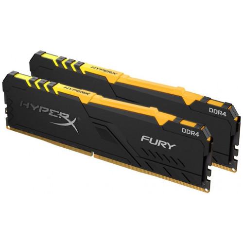 Оперативная память DDR4 Kingston 16GB KIT(2x8GB) 2666MHz HyperX Fury RGB (HX426C16FB3AK2/16)