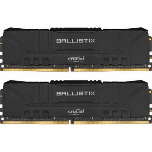 Оперативная память DDR4 16GB (2x8GB) 3200Mhz Crucial Ballistix Black (BL2K8G32C16U4B)