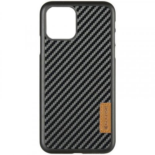 Карбоновая накладка G-Case Dark series Apple iPhone 11 (Black)