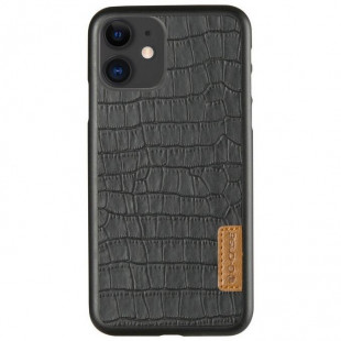 Кожаная накладка G-Case Crocodile Dark series Apple iPhone 11 (Black)