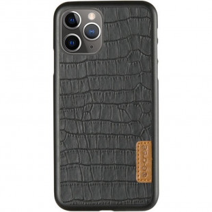 Кожаная накладка G-Case Crocodile Dark series Apple iPhone 11 Pro Max (Black)