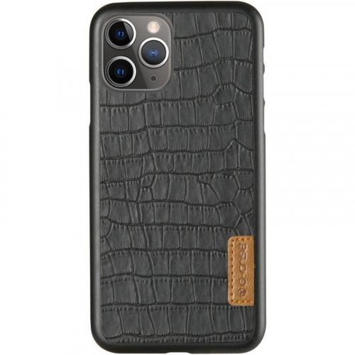 Кожаная накладка G-Case Crocodile Dark series Apple iPhone 11 Pro Max (Black)