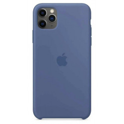 Чехол Apple Silicone Case Linen Blue (1:1) для iPhone 11 Pro