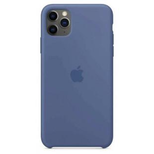 Чехол Apple Silicone Case Linen Blue (1:1) для iPhone 11 Pro Max
