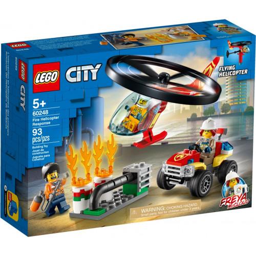 Конструктор LEGO City Пожарный спасательный вертолёт 60248