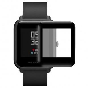 Защитное стекло 3D для Xiaomi Amazfit Bip S / Bip / Bip Lite (Черный)