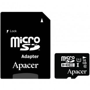 Карта памяти Apacer 16GB microSDHC UHS-I U1+adapter