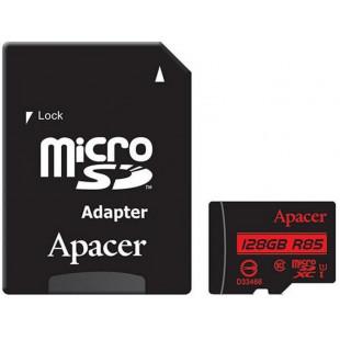 Карта памяти Apacer 128GB microSDXC UHS-I U1+adapter (R85MB/s)
