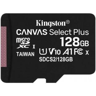 Карта памяти Kingston 128GB microSDXC Canvas Select+ A1 (R100/W85)
