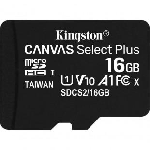 Карта памяти Kingston 16GB microSDHC C10 UHS-I R100MB/s (SDCS2/16GBSP)