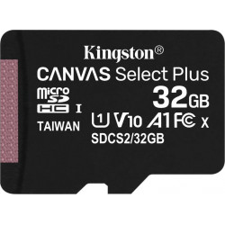 Карта памяти Kingston 32GB microSDHC C10 UHS-I R100MB/s (SDCS2/32GBSP)