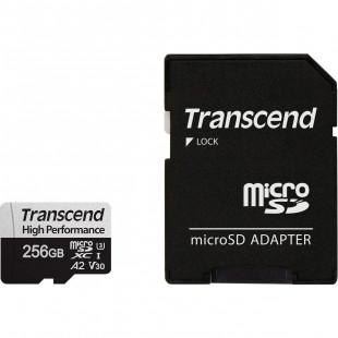 Карта памяти Transcend  256GB microSDXC C10 UHS-I U3 A2 R100/W85MB/s + SD