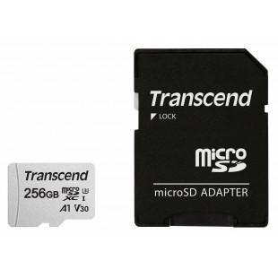 Карта памяти Transcend  256GB microSDXC C10 UHS-I R95/W45MB/s + SD адаптер