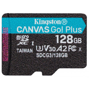 Карта памяти Kingston 128GB microSDXC C10 UHS-I U3 A2 R170/W90MB/s