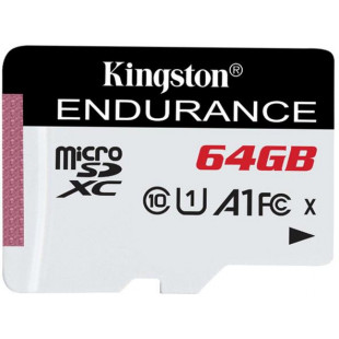 Карта памяти Kingston 64GB microSDXC C10 UHS-I R90/W45MB/s High Endurance