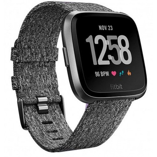 Смарт-часы Fitbit Versa Special Edition Charcoal Woven (FB505BKGY)