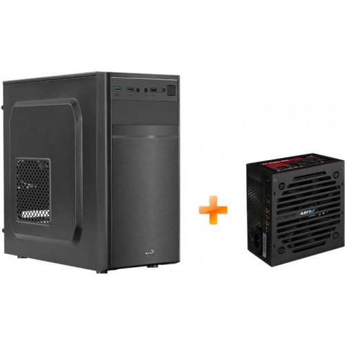 Корпус AEROCOOL CS-103 Black Mini Tower + БП VX PLUS 500