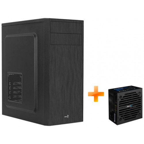 Корпус AEROCOOL CS-1103-S-BK-v1 Black Mid Tower + БП VX PLUS 450