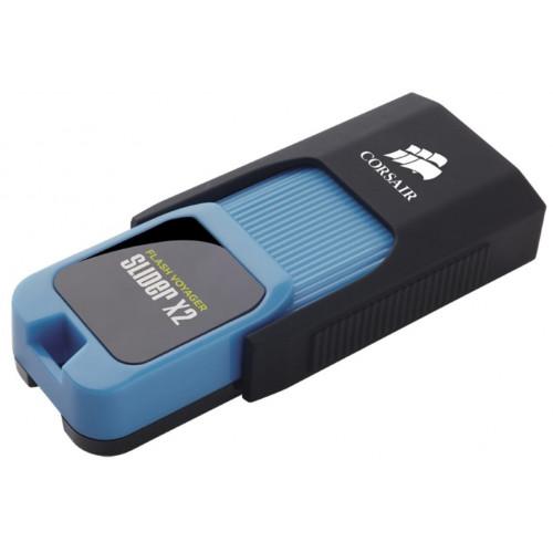 Флешка Corsair 512GB USB3.0 Flash Voyager Slider X2 Blue (CMFSL3X2A-512GB)
