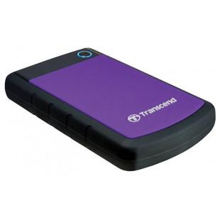 Внешний жесткий диск HDD 2.5 1TB Transcend StoreJet 25H3 USB3.0 Black-Purple (TS1TSJ25H3P)