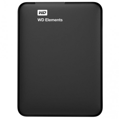 Внешний жесткий диск HDD 2,5 1TB WD Elements USB3.0  Black (WDBUZG0010BBK-WESN)