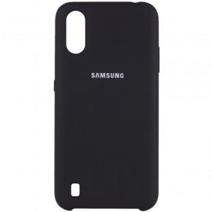 Силикон Original Silicone Case Samsung A01/A015  (Черный)