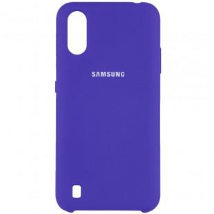 Силикон Original Silicone Case Samsung A01/A015  (Фиолетовый)